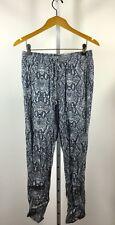 MICHAEL STARS Blue Snake Print Drawstring Jogger Pant Size Small