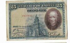 ESPAÑA: 25 PESETAS CALDERÓN (ALFONSO XII). AÑO 1928.CON SERIE. MAL. ENVIO GRATIS
