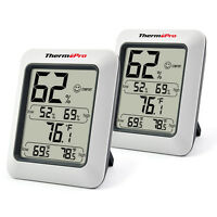 2x ThermoPro TP-50 Digital LCD Thermometer Hygrometer Meter Temperature Humidity