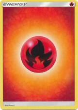 20X Fire Basic Energy -Sun and Moon Base Set- -NM- Pokemon 2017 Red Burn