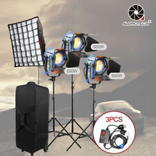 650W*3 Fresnel Tungsten Spot light +dimmers*3+Air cushion stand+case+softbox Kit