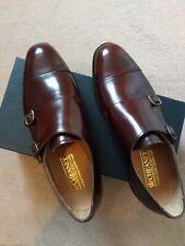 Joseph Cheaney  Uk Size 8F Double Buckle Monk Shoe Brown RRP £365