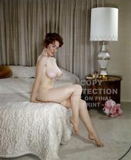 SABINE DEMOIS B/W Big Boobs Classic Glamour 10 x 8 Photo No 2