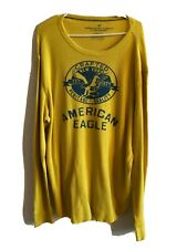AMERICAN EAGLE OUTFITTER Thermal Long Sleeve Shirt Sz XXL Men's Yellow