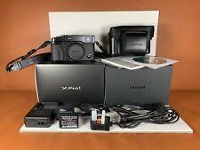 Fujifilm X-Pro 1 16.3MP Digital Rangefinder Camera Leather Case, Grip, Book VGC+