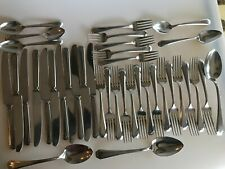 38 PIECES ROYAL STAINLESS ALLEGHENY MCM USED FLATWARE STREAMLINE SPOONS FORKS