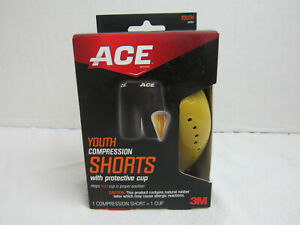 Ace Compression Shorts With Cup Size Youth