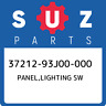 37212-93J00-000 Suzuki Panel,lighting sw 3721293J00000, New Genuine OEM Part