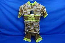 New State Bicycle Co Camo Cycling Kit Jersey & Bib Shorts, XS, $150 Retail! NWOT