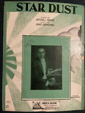Vintage 1929 Star Dust Sheet Music-By Hoagy Carmichael & Mitchell Parish