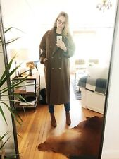 Max Mara Wool/Cashmere Icon Coat Women's US 8 made in Italy, Dark Camel, Brown