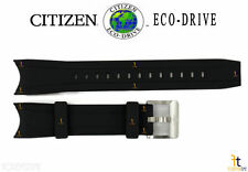 Citizen Eco-drive Promaster S078849 Black Rubber Watch Band S078857 W/ Pins