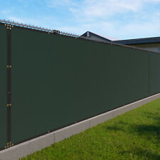 Green 480GSM 8ft Privacy Screen Fence Commercial Windscreen Mesh Cover