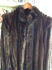 Manteau de fourure, bayadere et daim, vison, annee 1980.taille 40-42, bon etat ,