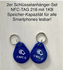 2er NFC-Tag NTAG216-Set als Schlüsselanhänger für alle Smartphones geeignet