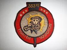 Vietnam War Patch Us 353rd Fighter Squadron At Korat Royal Thai Air Force Base