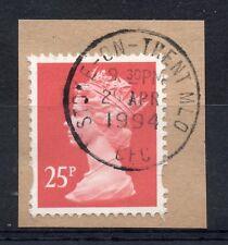GB = QE2 Postmark - `STOKE-ON-TRENT MLO / CFC` 1994 Single Ring cancel.