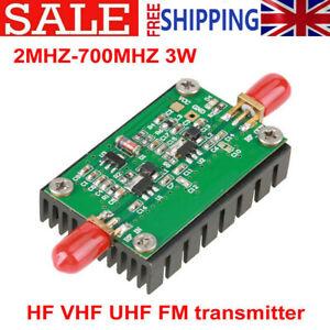 3W RF Power Amplifier Module HF VHF UHF FM Transmitter For Ham Radio DC 12~15V