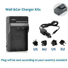 Battery Wall &Car Charger for Sony NP-FH50 Sony DSLR-A230Y DSLR-A290 DSLR-A330
