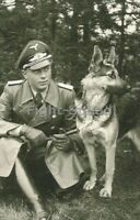 WW2 Picture Photo German Officer With His Dog 3310