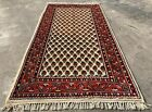 Authentic Hand Knotted Vintage Badam Gul Mir Wool Area Rug 5 x 2 Ft