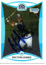 Hector Gomez Colorado Rockies 2008 Bowman Chrome Rookie Signed Card