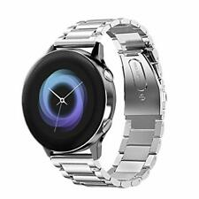 Samsung Galaxy Watch Active 40mm Bands,20mm Stainless Premium Steel Metal Silver