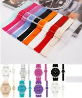 High QTY ultra thin rubber silicon strap bracelet band fits SWATCH SFK SKIN 16mm