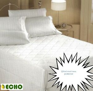 Echo Quilted Mattress Protector Single Double King Super King Pillow Cases
