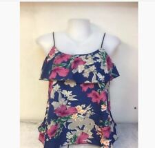 WOMEN'S FLORAL SLEEVELESS BLOUSE NC -  BLUE