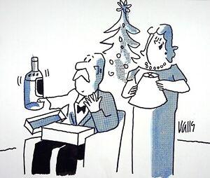 [Funny - Press] Guy Valls - Christmas Gift - Drawing Original Signed