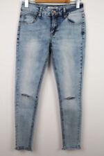 Stonewashed Damen-Jeans Risse/Fetzen klassische