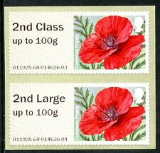 NCR ERRORS 2nd + 2nd LARGE COLLECTOR SET on MA15 POPPY POPPIES ERROR POST & GO