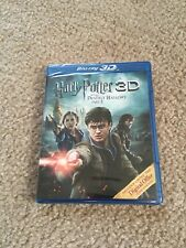 HARRY POTTER AND THE DEATHLY HALLOWS PART 2 BLURAY 3D NEW SEALED