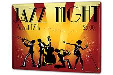Tin Sign XXL Kitchen Jazz night metal plate plaque