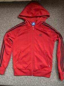 Womens Adidas Hoodie Zip Red Size 8