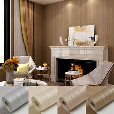 10M Luxury Modern Shiny Stripes Waterproof Embossed Textured PVC Wallpaper Roll
