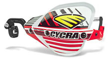 """Cycra Probend CRM Factory Handguards 1-1/8"""" Bars White / Red Shields Pair NEW"""