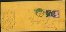 30c Orange 1860 (Scott 38) used with 3c 1857 (Scott 26) on cover to Peoria IL