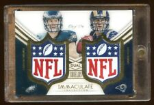 CARSON WENTZ / JARED GOFF IMMACULATE 1/1 *NFL* SHIELD RC  AMAZING ROOKIE CARD !
