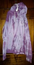 Ivory Ella Womens Size Small Tie Dye Hoodie Sweatshirt Purple