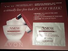 Avon Anew Reversalist Complete Renewal Day Cream Spf 25 Samples .04 oz ( 2 )