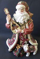 Large Fitz & Floyd Christmas Tidings Santa Centerpiece Figurine 2004 Boxed RARE