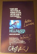 "CLIVE BARKER & DOUG BRADLEY+1 Hand-Signed ""HELLRAISER"" 11x17 Photo (EXACT PROOF)"