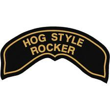 CUSTOM EMBROIDERED HARLEY HOG ROCKER PATCH
