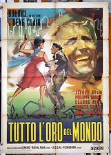 manifesto 2F film TOUT L'OR DU MONDE Bourvil Colette Castel René Clair 1962