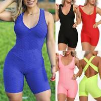 Women Sports Yoga Jumpsuit Bodysuit Leggings Pants Anti Cellulite Workout Gym