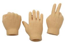 Set Of 3 Flesh Color Rock Paper Scissors Latex Finger Puppets