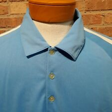 NIKE GOLF FIT DRY Men's Shirt Athletic Polo Blue White Polyester XL