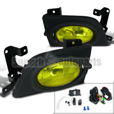 For 2006-2008 Honda Civic 4Dr Sedan Bumper Fog Lights Driving Lamp+Switch Yellow